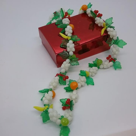 Mid-Century Mod Fruit Salad Necklace, Thermoset Plastic Beads,