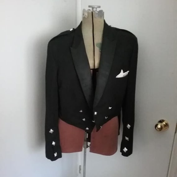 1960's Authentic Military Mess Uniform Jacket, Steampunk Wedding Tails