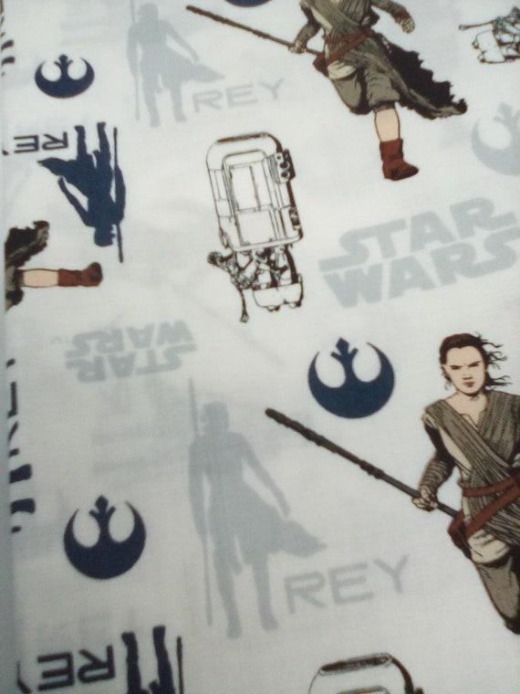 1 Yard Star Wars Cotton Fabric, The Force Awakens Novelty Fabric, Rey on the Run Star Wars Material, Cotton Space Star Wars Novelty Fabric