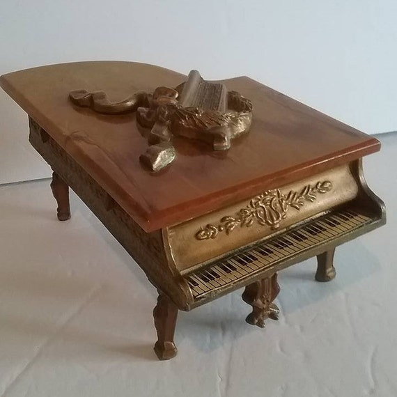 1940 Grand Piano Music Box, The House of Snider, Bakelite,  Reuge Swiss Movement