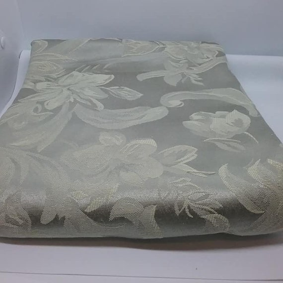 3 Yards Jacquard Material, Light Olive Green, 100% Polyester Fabric,