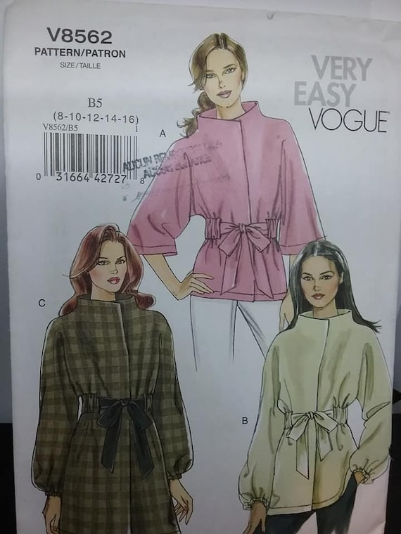 Vogue Jacket Sewing Pattern