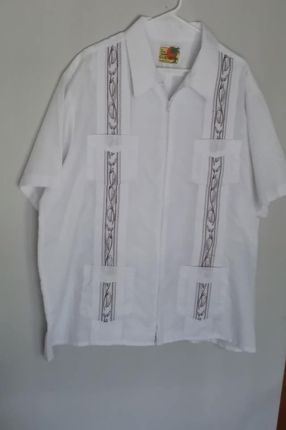 Men's Haband Guayabera, Genuine Hawaiian 2XL Shirt