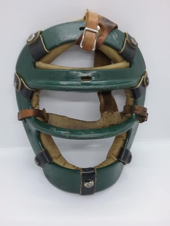 Antique Leather Baseball Mask