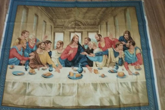 The Last Supper Quilting Sewing Fabric Panel, VIP Cranston, Jesus and Disciples