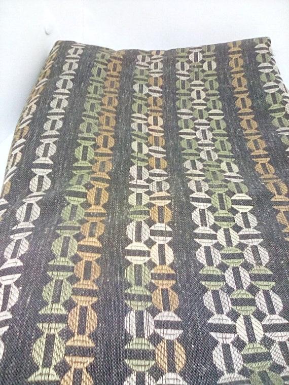3 Yards Upholstery Brocade Material, Brocade Fabric in Blacks and Greys, Medium to Heavy Fabric