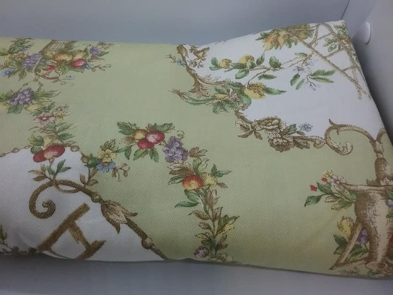 Upholstery Material, P Kaufmann, Victorian Gardening Print, 2.5 Yards Fabric,