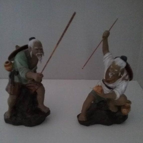 Wanjiang Shiwan Mud Men Pottery, Fishermen, Clay