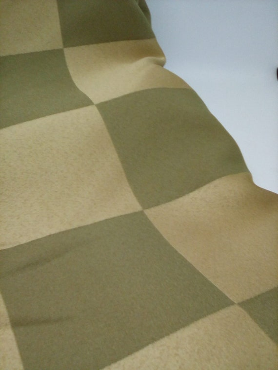 3 Yards Jacquard Fabric, Two Tone Check, Olive Green Jacquard Polyester
