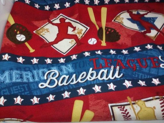 2 Yards Baseball Novelty Fabric, Cotton Novelty Material,  Baseball Game Fabric