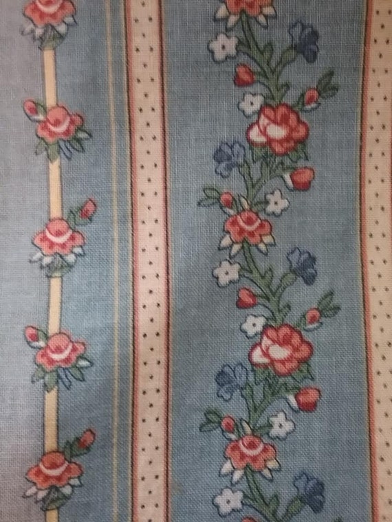 Vintage Bloomcraft Roses fabric, RARE ff258