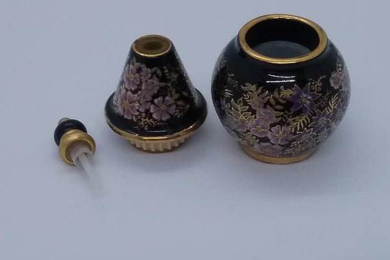 Perfume Bottle Hand Painted, Made in Greece