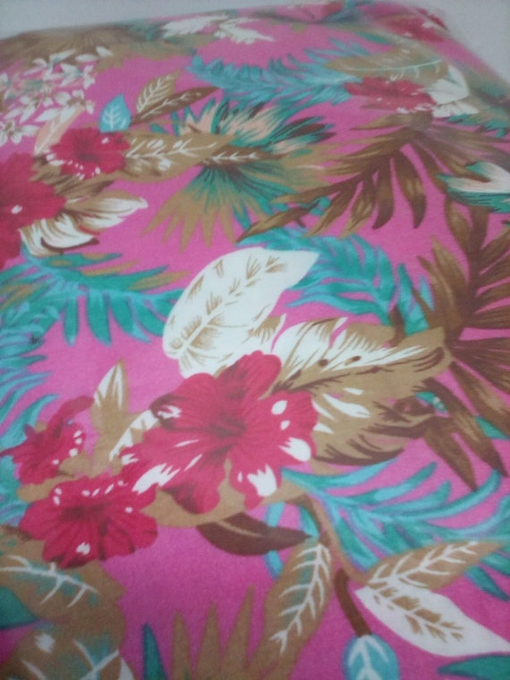 4 Yards Hawaiian Floral Fabric, Viscose Apparel Material, Flowing and Soft Fabric