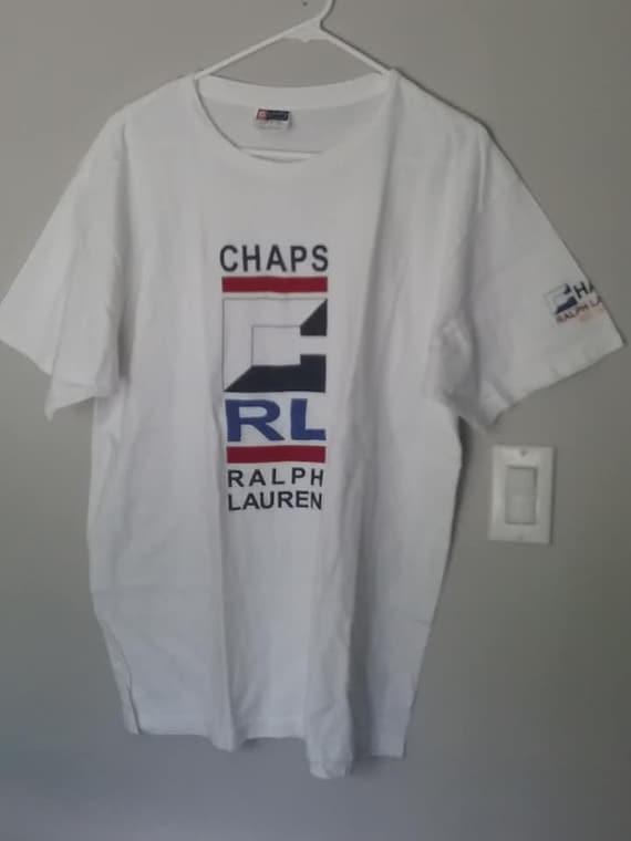 90's Chaps Ralph Lauren, RL Logo Large Tee Shirt