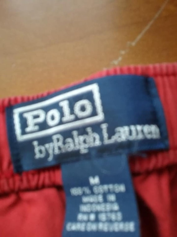 Men's Vintage Ralph Lauren Polo Scrub Pants, Terracotta