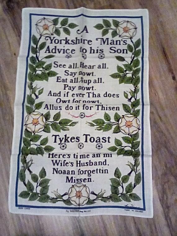 Irish Linen Tea Towel with Irish Blessing, Cotton/linen Blend Irish Tea Towel, Irish Blessing Wall Hanging