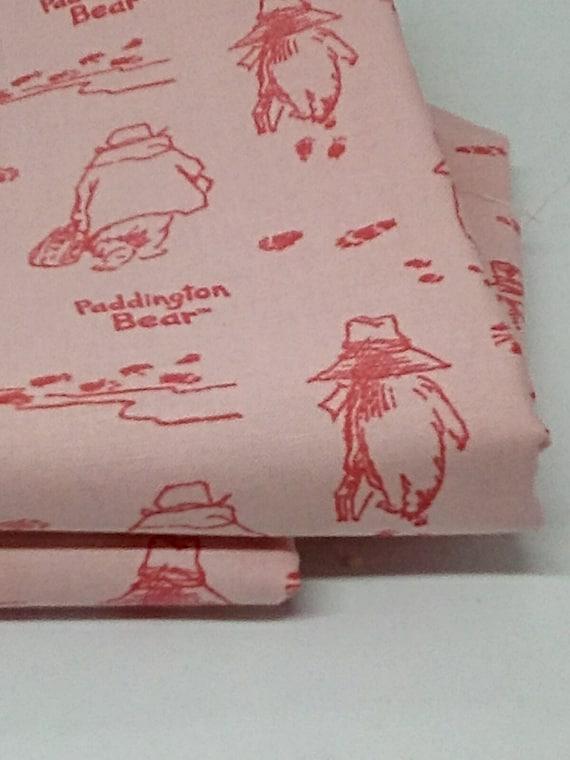 2 Yards Cotton Paddington Bear Novelty Fabric, Paddington Bear Fabric 100% Cotton