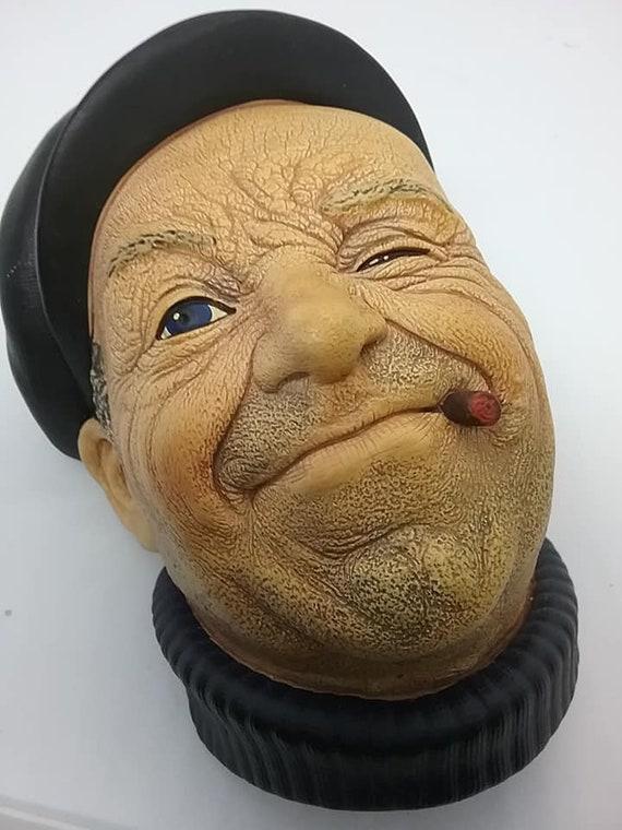 Bosson Head, Life Boatman, Bosson Chalkware Wall Decor