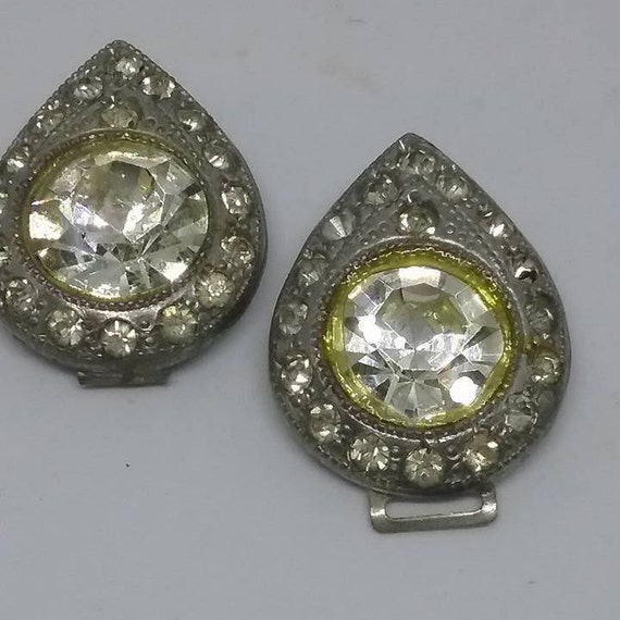 Victorian Rhinestone Dress Clips,
