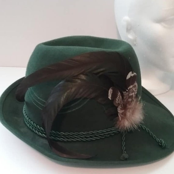 Vintage Men's German Fedora, with Feathers