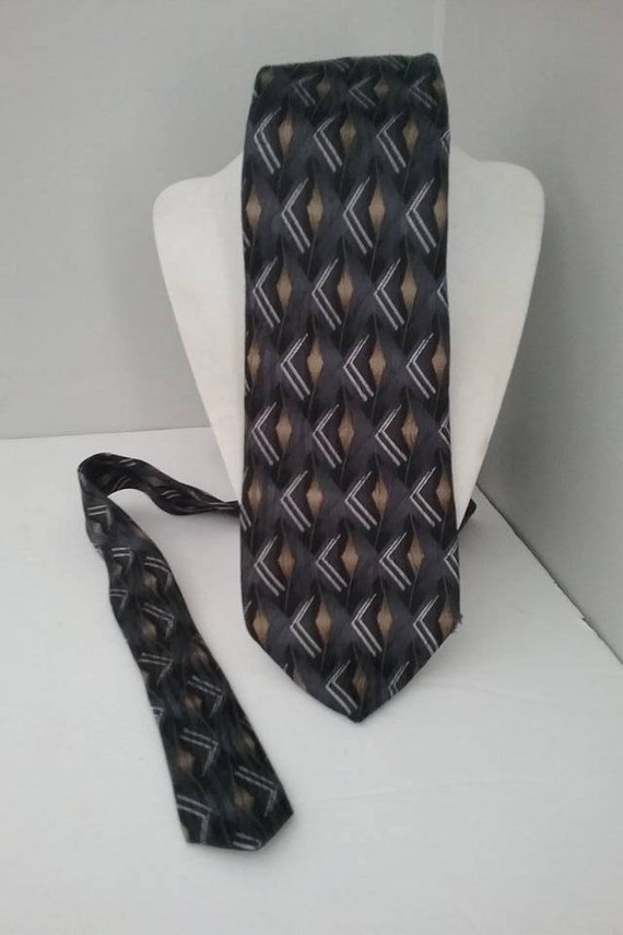 1990's Men's Silk Tie, Designer Gianfranco Ruffiin, Italian