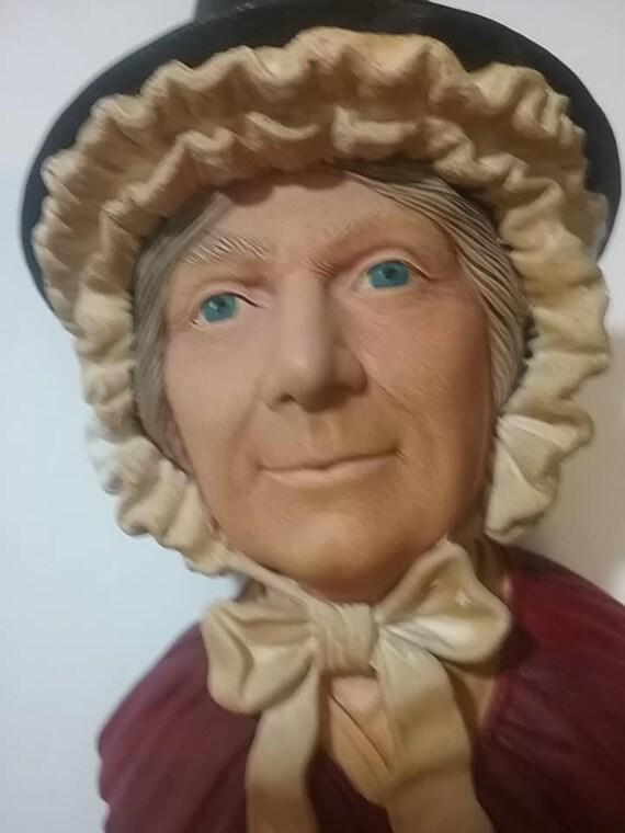 Bosson Head, Welsh Lady Bosson Chalkware Head