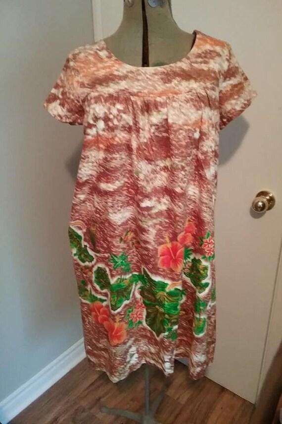 Vintage 1970s Sundress, Vintage Hawaiian Cotton S… - image 4