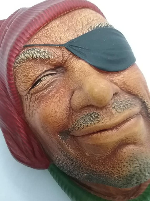 Bosson Head, Smuggler, Vintage Chalkware, Bosson World Character