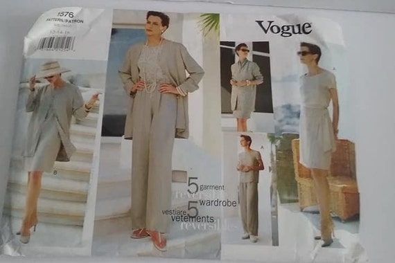Vogue Pattern 5 Garment Wardrobe