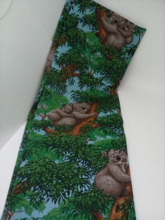 1 Yard Cotton Fabric, Koala Print Fabric, Koala in Trees Material, VIP Cranston