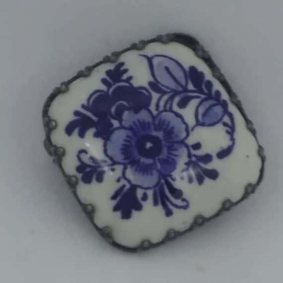 Vintage Deft Tile Brooch