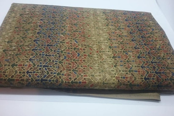 Cotton Hoffman Material. 2.5 Yards, Gold Sheen Fabric