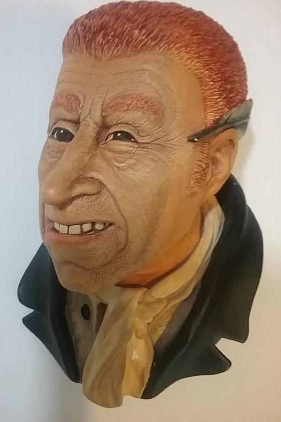 Bosson Head, Uriah Heep, Bosson Chalkware Head, Dicken's Series