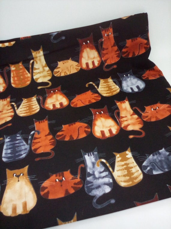 1 Yard Cotton Cat Fabric, Funny Cats Fabric, Fabric for Cat Lovers