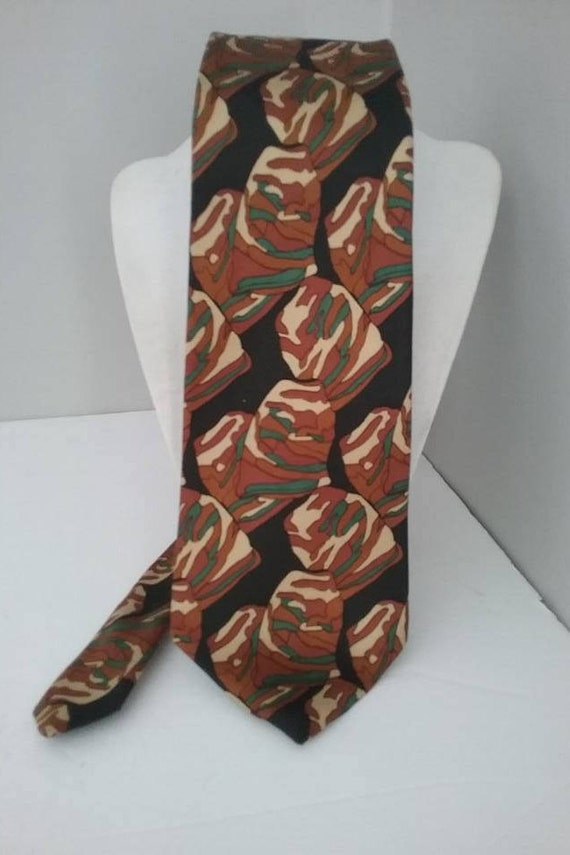 Men's Vintage Camo Tie, Wide, Khaki Colors