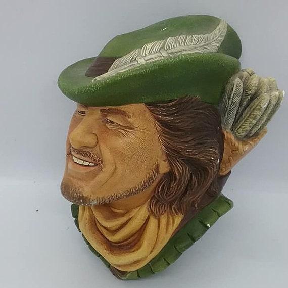 Bosson Head, Robin Hood, Bosson Chalkware Wall Decor