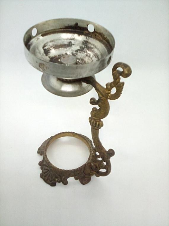 Vintage Brass Incense Burner,  1984 Patent Loose Or Incense Oil Burner Made of Brass