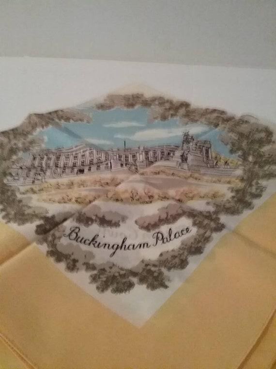 Vintage England Souvenir Silk Scarf,