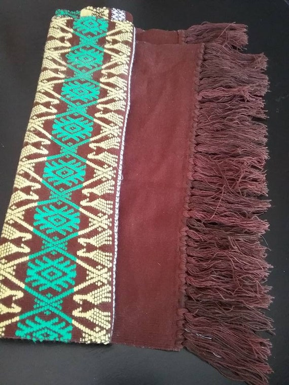 Vintage Rustic Table Runner, Southwestern Handwoven Style