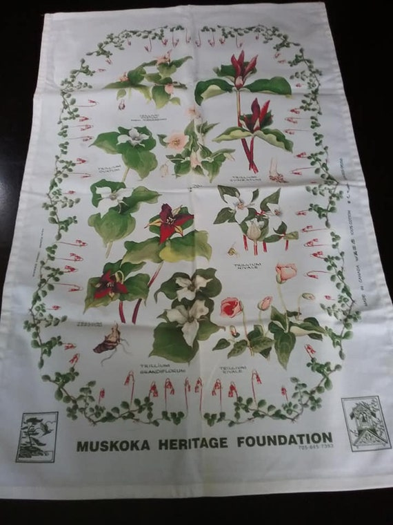 Canadian Tea Towel, Floral Wall Fabric