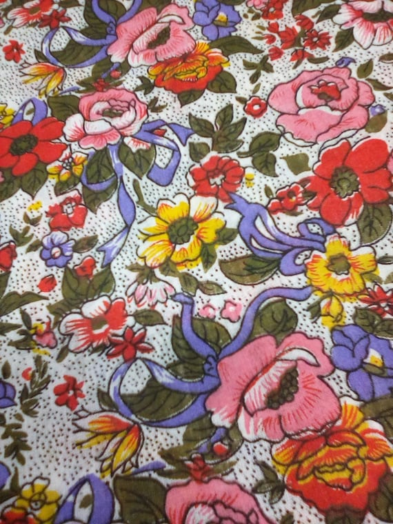 4 Yards Cotton/poly Floral print,  Floral Material, Multi Colors Fabric, Victorian Inspired Floral
