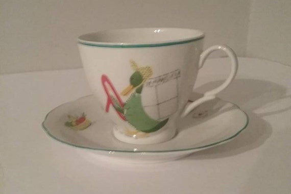 Vintage Cmielow Children's Cup and Saucer,