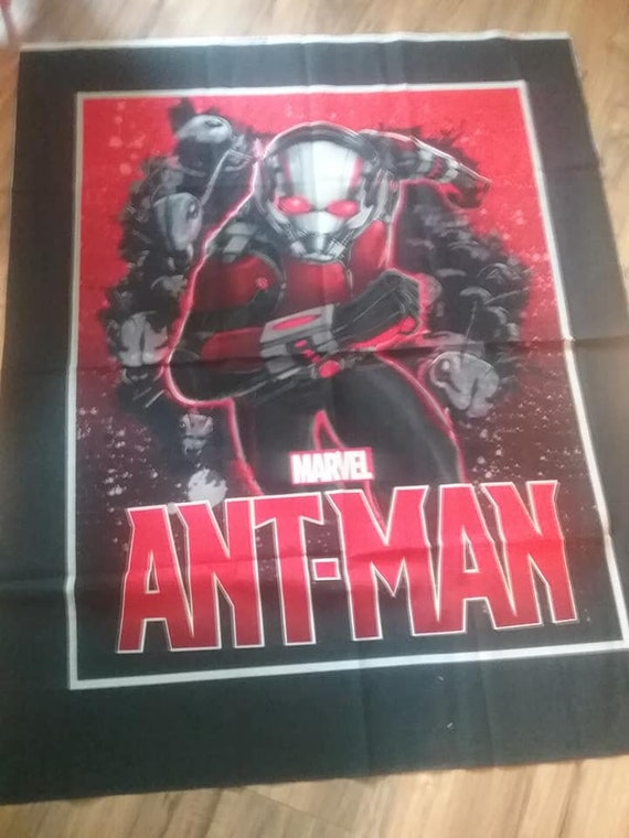 Licensed Marvel Material, Ant Man Fabric Panel, Novelty Fabric