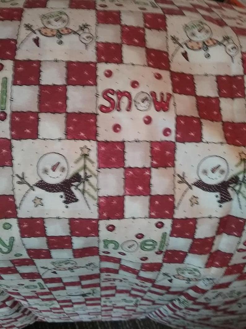 Christmas Snowman Fabric