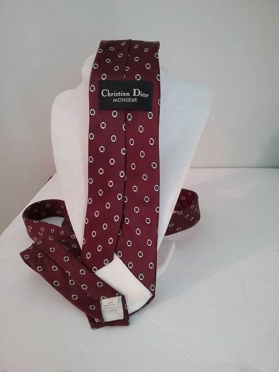 Men's Vintage Silk Tie, Christian Dior
