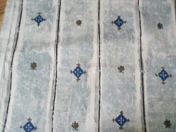 2 Yards Cotton Fabric, Abstract Print Cotton,  Light Blue Cotton Material