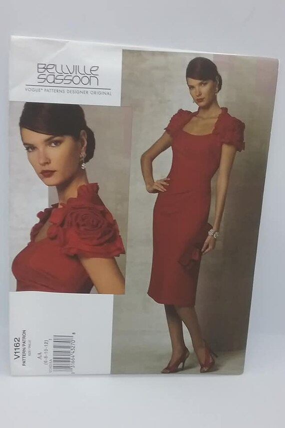 Vogue Sewing Pattern, V1162. Designer Bellville Sassoon, Fitted Dress