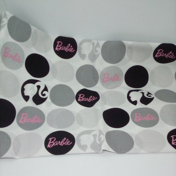 1 Yard 100% Cotton Novelty Fabric, Barbie Novelty Fabric, 50's Style Barbie Material