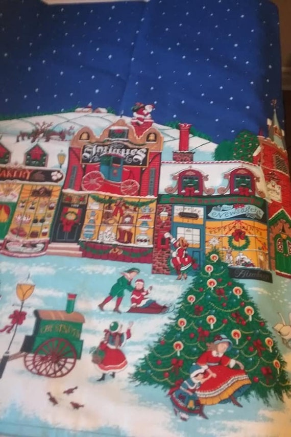 Vintage Christmas Fabric 5 Yards, Sharon Kessler Concord