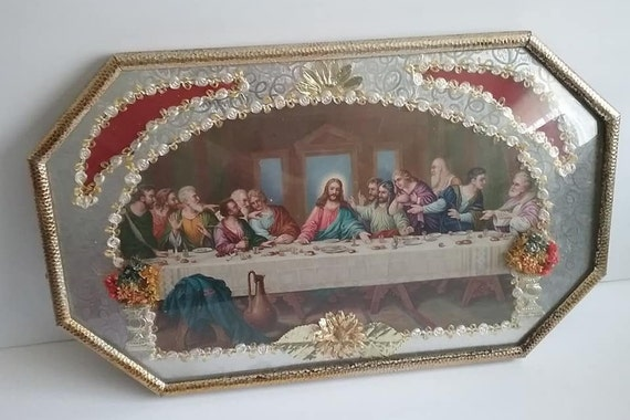 1960's Last Supper Framed Picture